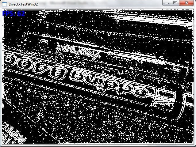 Screenshot with edge detection enabled